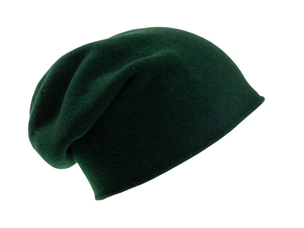 Vlněná čepice pletená Otigirita TONAK zelená tmavá