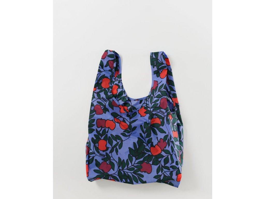 eco Ripstop Apple Tree ekologická nákupní taška BAGGU jabloň modrá