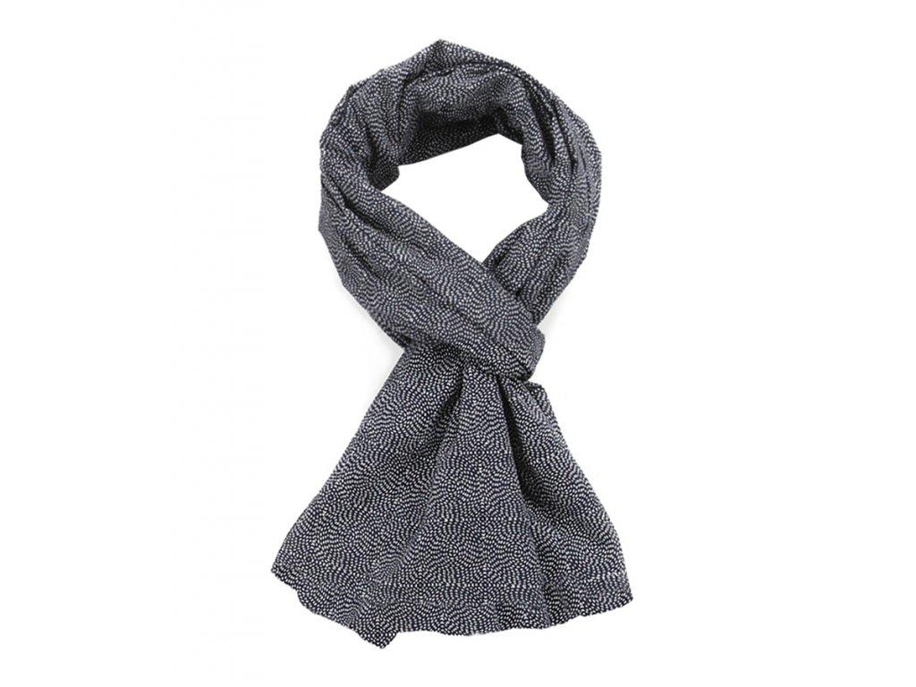 Pánský Šál Šátek Japonský Modrotisk / bavlna, unisex, modrá,navy mandala