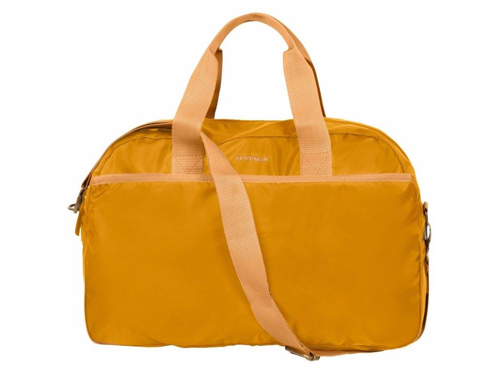 Sportovní taška Sport Bag BENSIMON / okrová, starorůžová, vínová, modrá, námořnická modrá, zelená