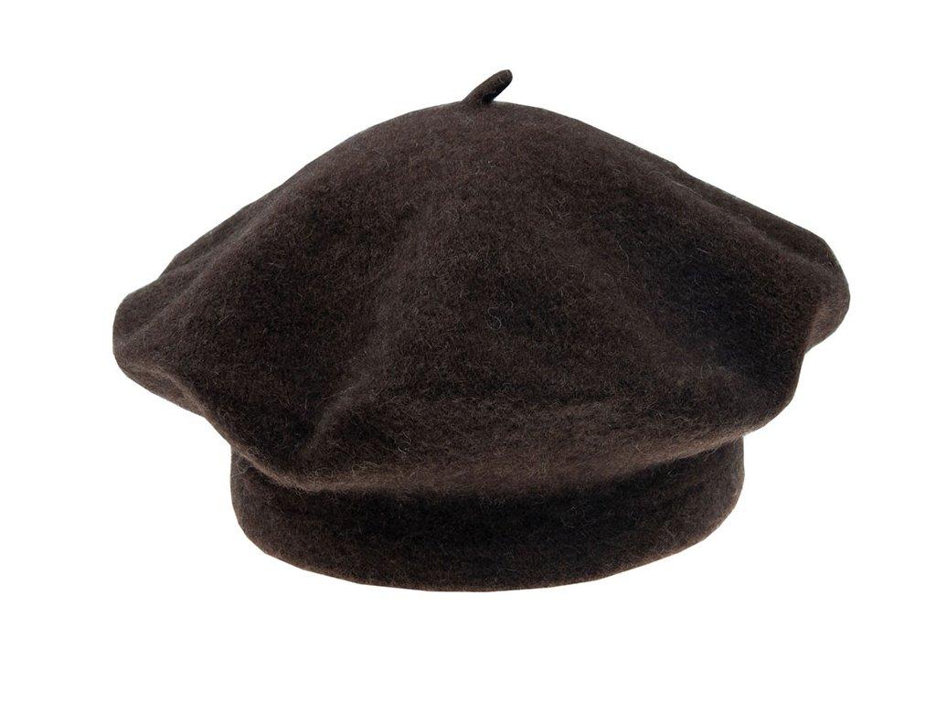 Ferolit baret Yak TONAK / jačí vlna / Dámský Pánský Unisex vlneny baret hnedy