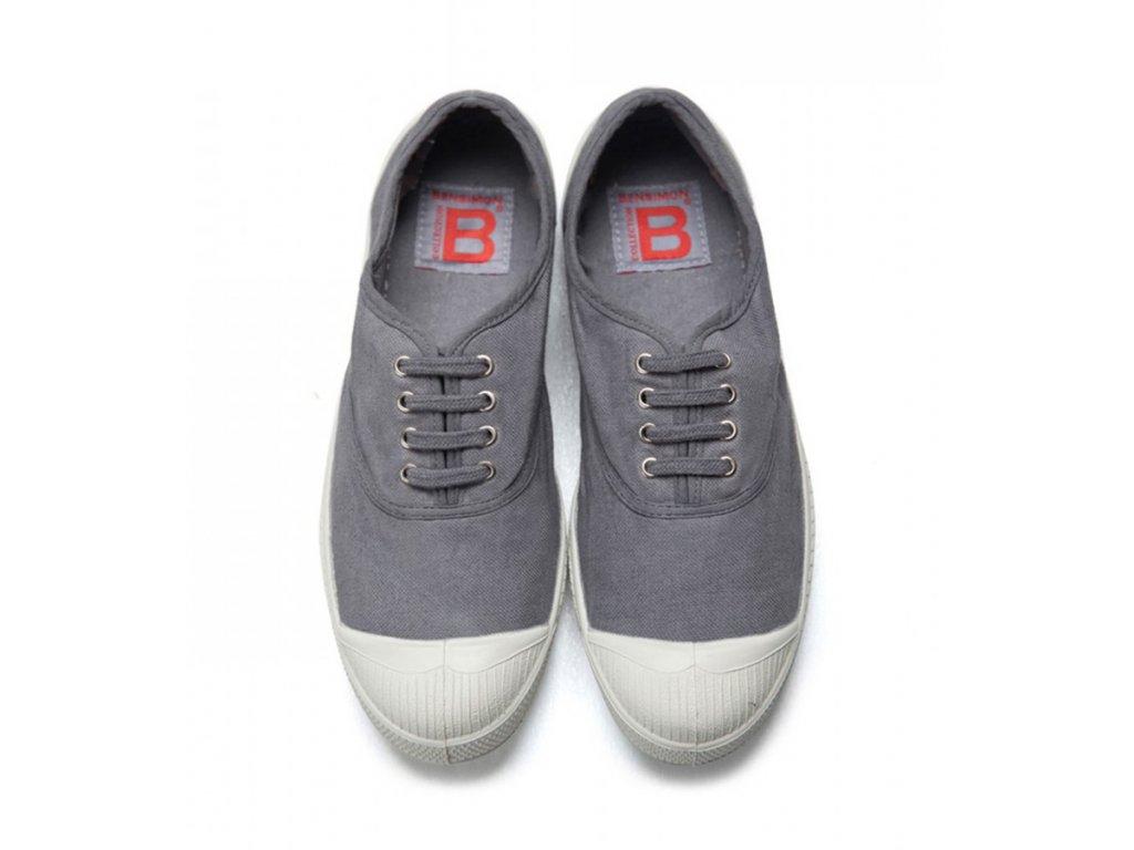 Boty obuv Tenisky zavazovací Tennis Lacets BENSIMON šedá / unisex, ženy, muži