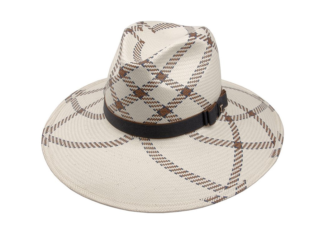 dámský elegantní slaměný klobouk se stuhou s mašlí / Fedora Claudine / TONAK / bílá, černá, hnědá, tmavě modá