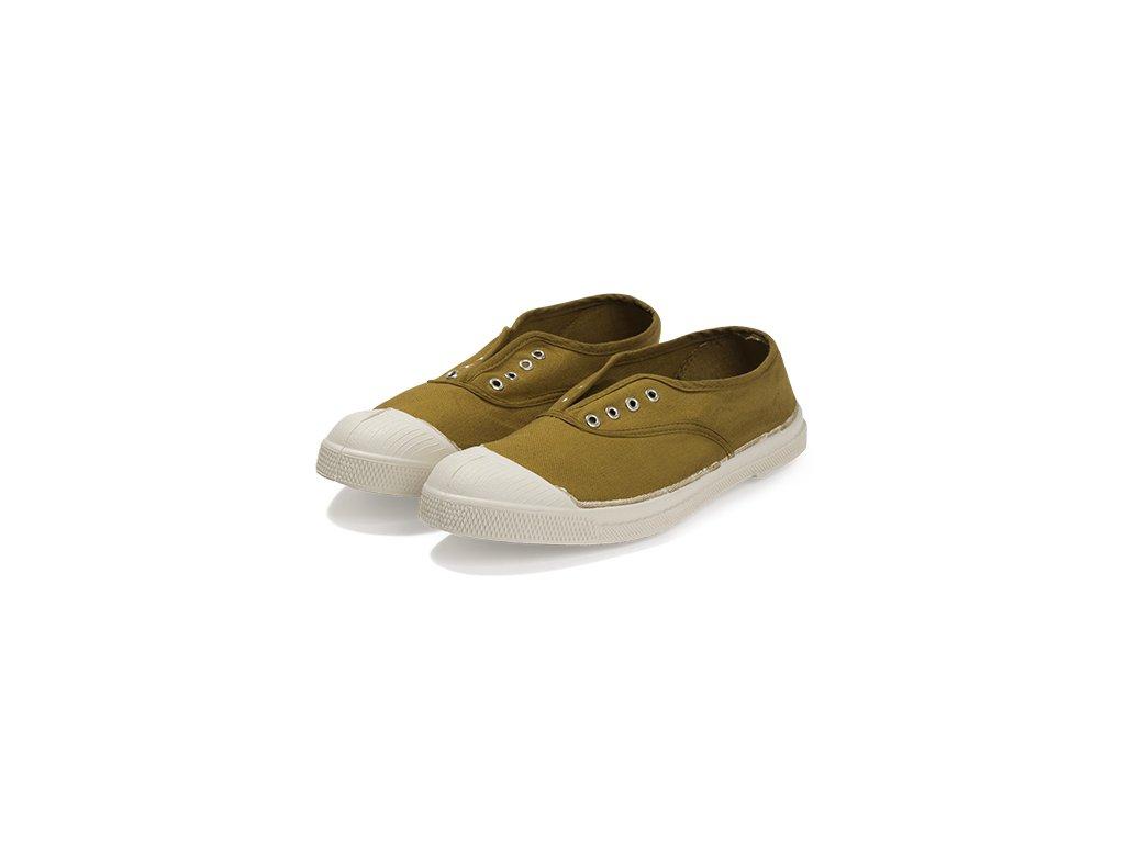 Tenisky Tennis Elly BENSIMON / bez tkaniček, s gumou přes nárt / surplus boty obuv zlatá