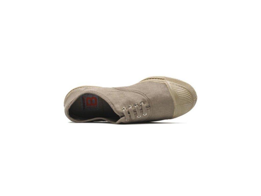 Boty obuv barevná podrážka colorsole BENSIMON unisex Tenisky Tennis Militaire béžová