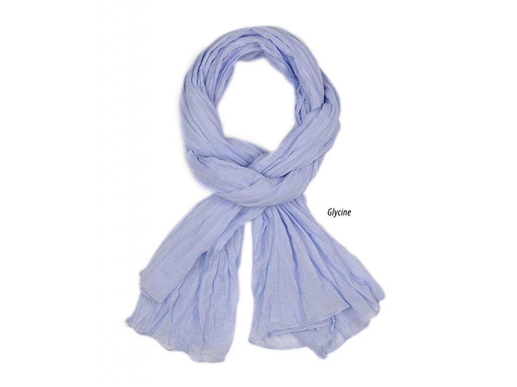 dámský, pánský šátek šála unisex děti 100% bavlna modrá