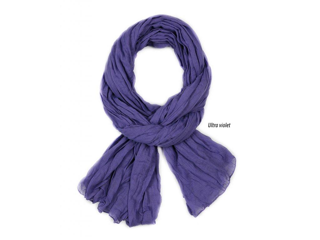 dámský, pánský šátek šála unisex děti 100% fialová