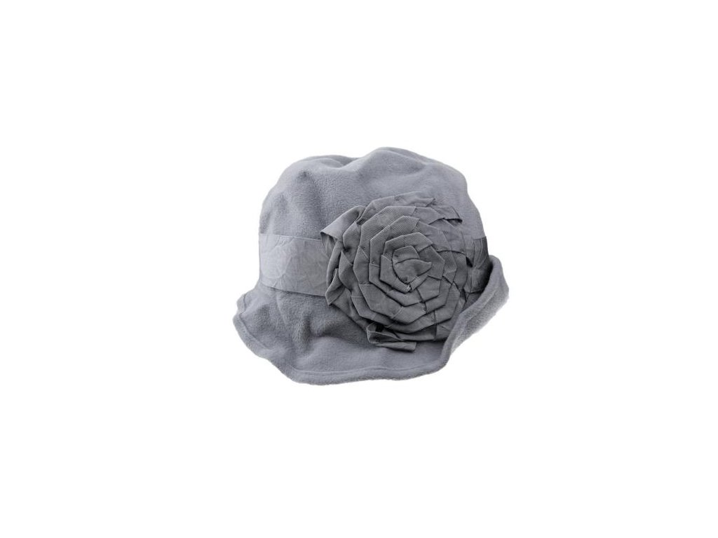 klobouk plstěný dámský TONAK králičí srst květ TONAK králičí srst šedá šedý