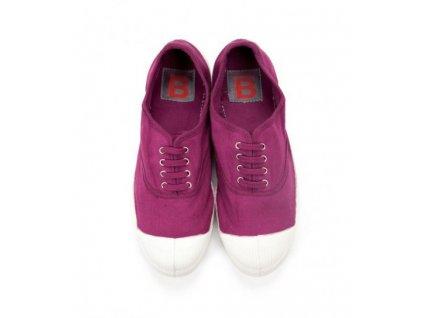 Boty obuv BENSIMON unisex Tenisky Tennis Lacets královská fialová
