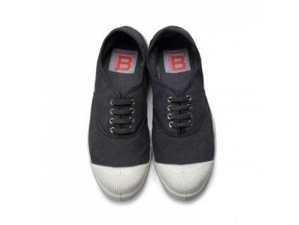 Boty obuv BENSIMON unisex Tenisky Tennis Lacets černá carbon uhlová