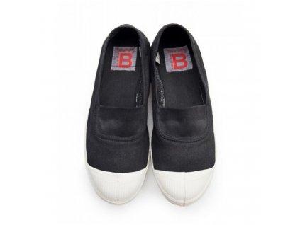 Boty obuv BENSIMON Balerínky Tennis Elastique černá carbon uhlová