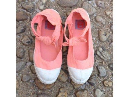 Boty obuv BENSIMON Balerínky Tennis Flo lososová korálová