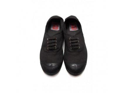 Boty obuv barevná podrážka colorsole BENSIMON unisex Tenisky Tennis Militaire černá