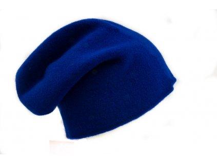 Vlněná Čepice Baret Otigirita TONAK pletena cepice modra