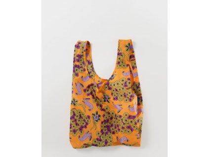 Wild Rabbit eco Ripstop ekologická nákupní taška BAGGU žlutá