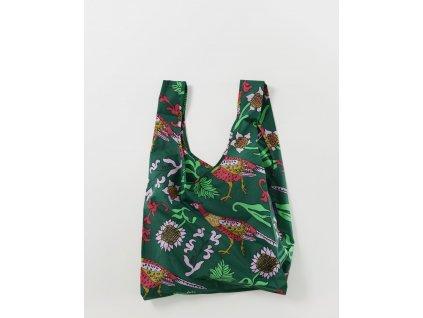 Green Pheasant eco Ripstop ekologická nákupní taška BAGGU zelený bažant