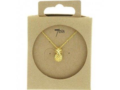 Náhrdelník Ananas 7BIS / stříbrná, zlatá Au