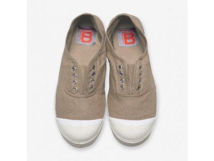 Boty obuv Tenisky Tennis Elly BENSIMON béžová / s gumou přes nárt coquille unisex