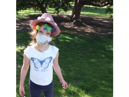 Dětský klobouk Tonak / květinový věneček / růžová