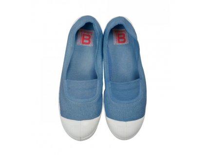 Boty obuv BENSIMON Balerínky Tennis Elastique modrá