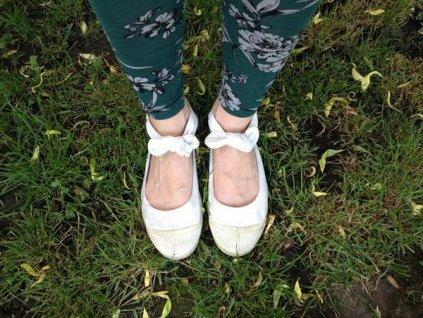 Boty obuv BENSIMON Balerínky Tennis Flo bílá