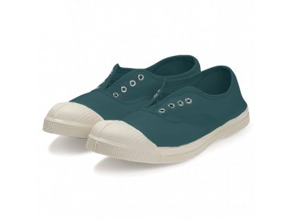 Tenisky Tennis Elly BENSIMON / bez tkaniček, s gumou přes nárt / modrá galapagos obuv boty