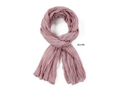 dámský, pánský šátek šála unisex děti 100% bavlna starorůžová lotos rose pale růžová
