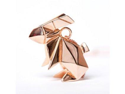 origami jewellery náhrdelník kralicek růžové zlato