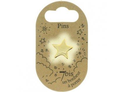 Brož Hvězda 7BIS giff zlatá stříbrná