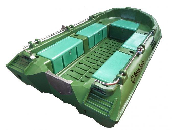 lodz lodka polietylenowa kontra zielona boat