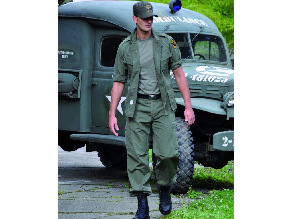 Blůza M64 VIETNAM šikmé kapsy ZELENÁ