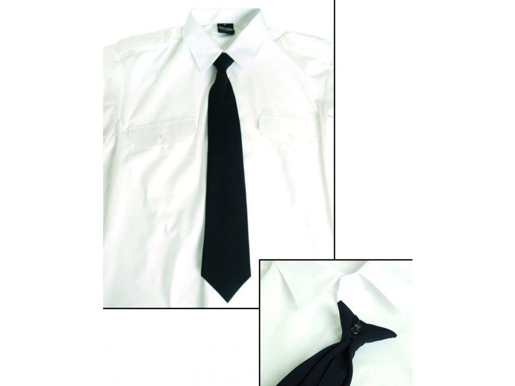 Kravata SECURITY na knoflík ČERNÁ