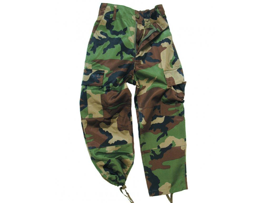 Kalhoty dětské US BDU WOODLAND