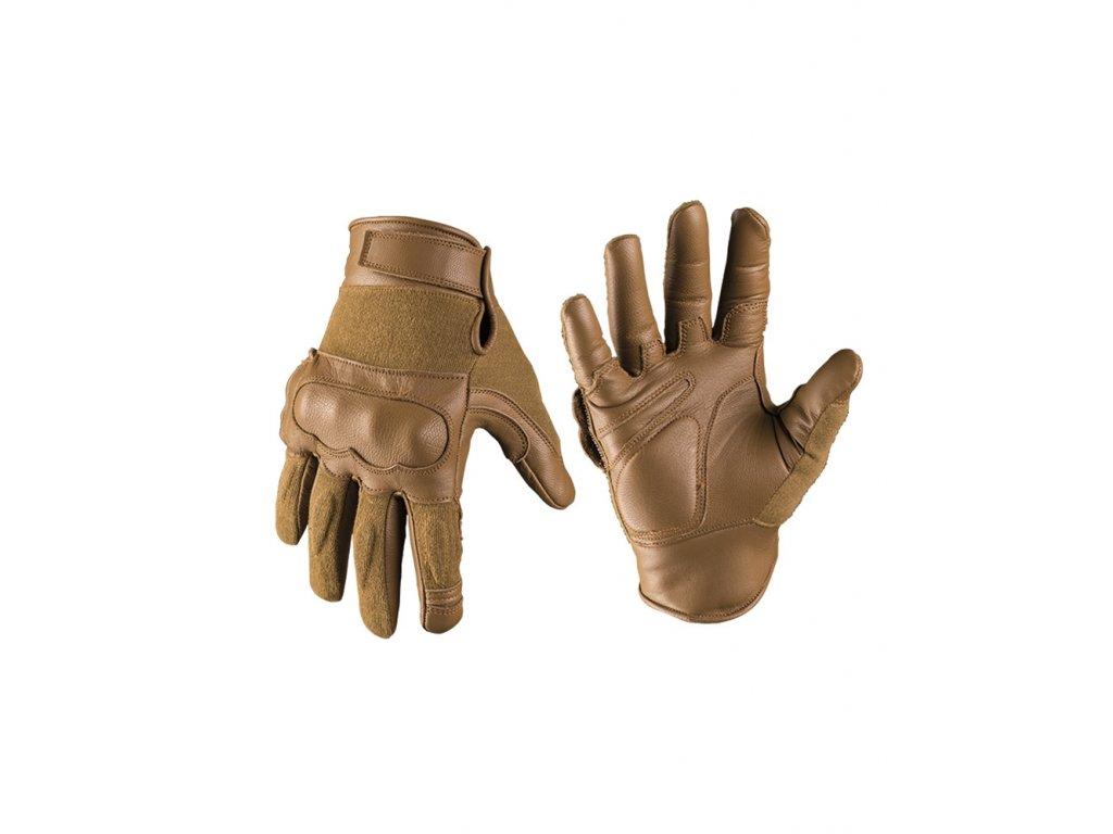 Taktické rukavice Kožené/Kevlar, COYOTE