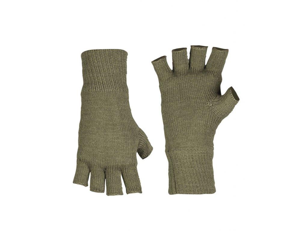 Rukavice Thinsulate™ pletené bez prstů ZELENÉ