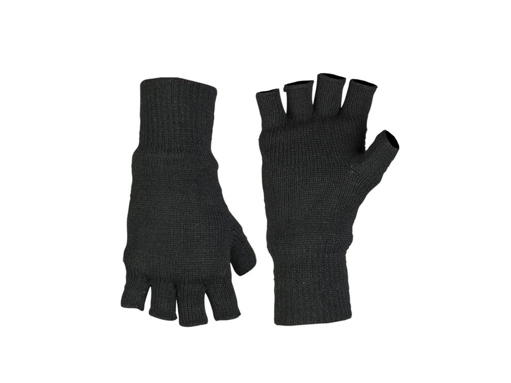 Rukavice Thinsulate™ pletené bez prstů ČERNÉ