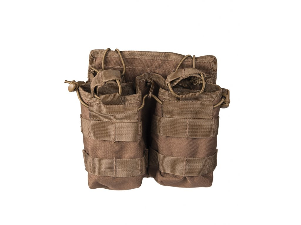 Sumka na zásobník otevřená dvojitá M4/M16 DARK COYOTE