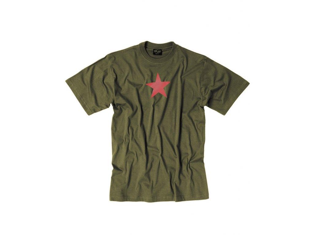 Triko krátký rukáv s potiskem RED STAR ZELENÉ