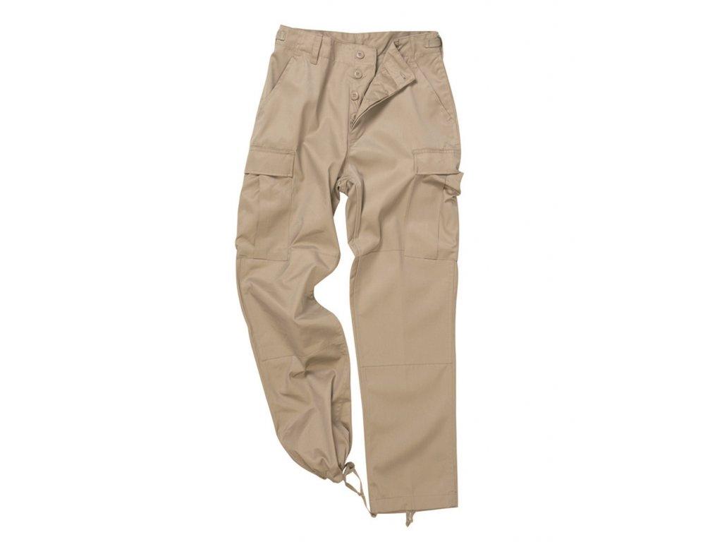 Kalhoty US BDU POLY polní KHAKI