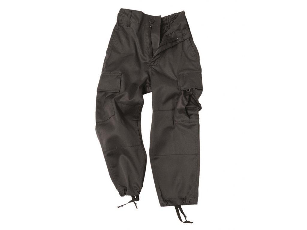 Kalhoty dětské US BDU ČERNÉ