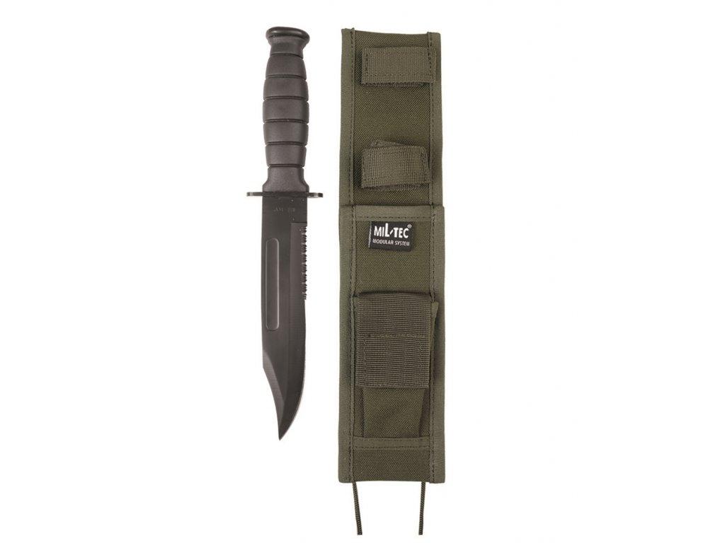 Nůž bojový US ARMY pouzdro modular ZELENÝ