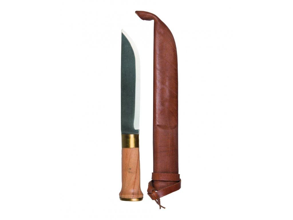 Nůž FINSKÝ velký 32cm s koženým pouzdrem