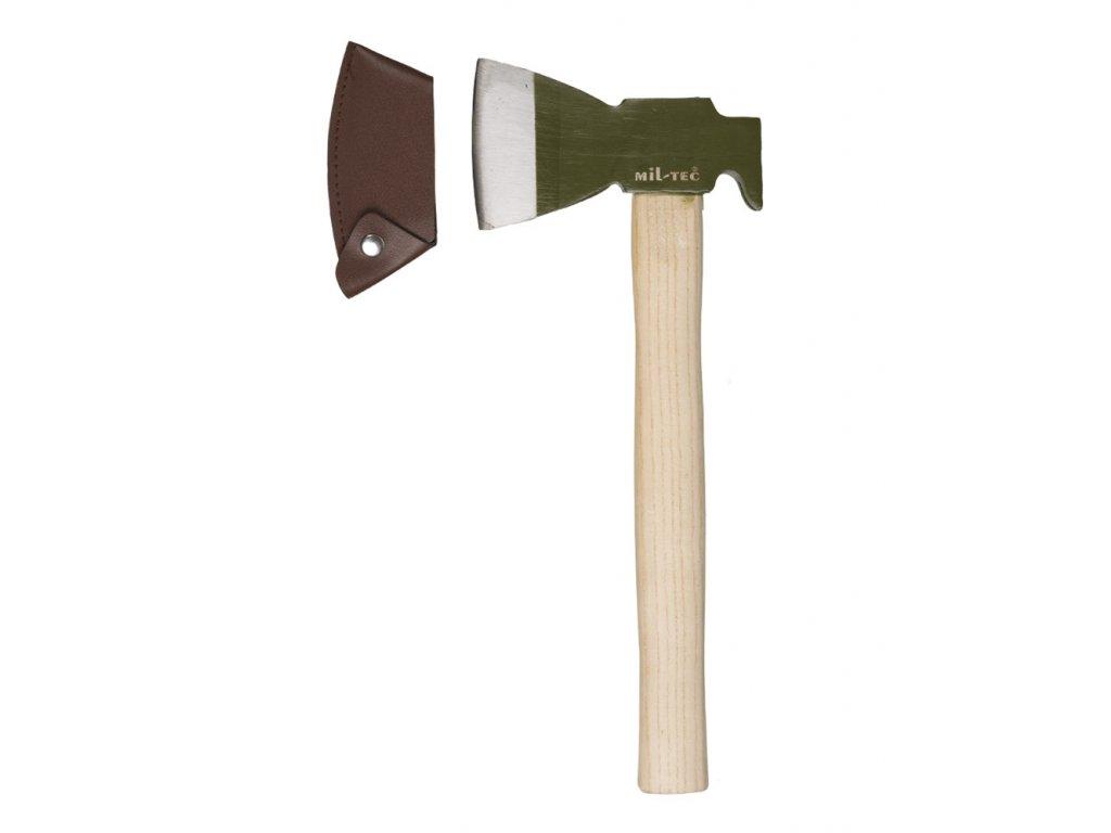 Sekera BW dřevěná s krytem ostří ZELENÁ