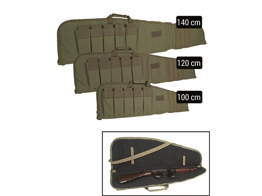 Taška na pušku MODULAR s popruhem ZELENÁ