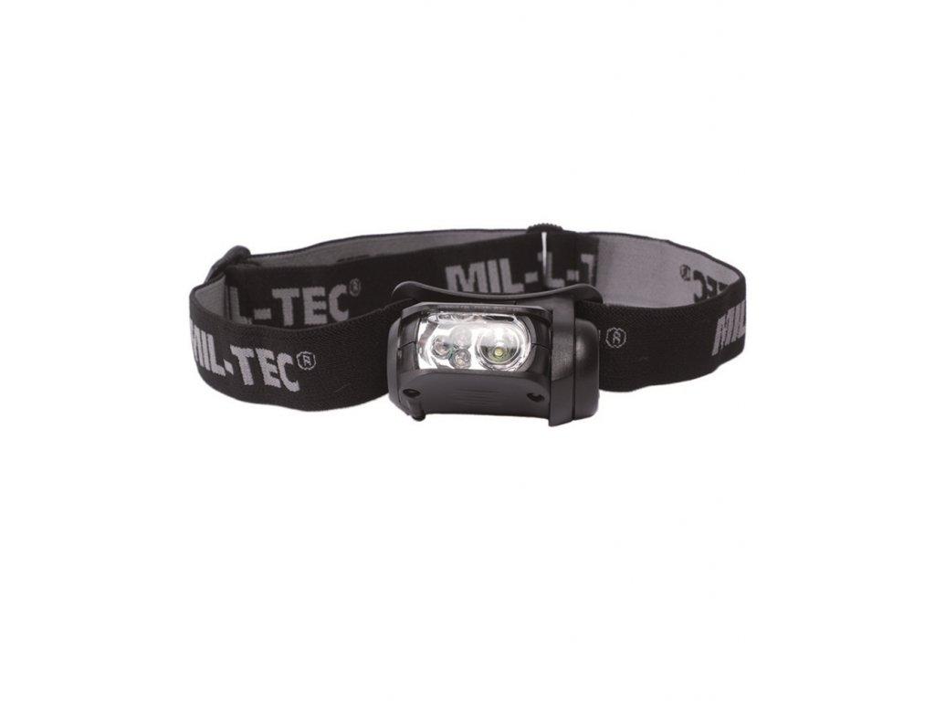 Svítilna čelová LED BÍLÁ / ZELENÁ / ČERVENÁ / MODRÁ