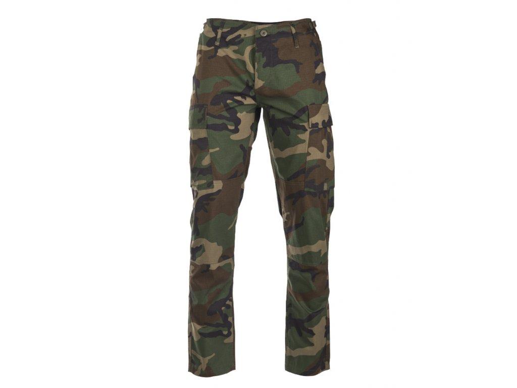 Kalhoty US BDU SLIM FIT polní rip-stop WOODLAND