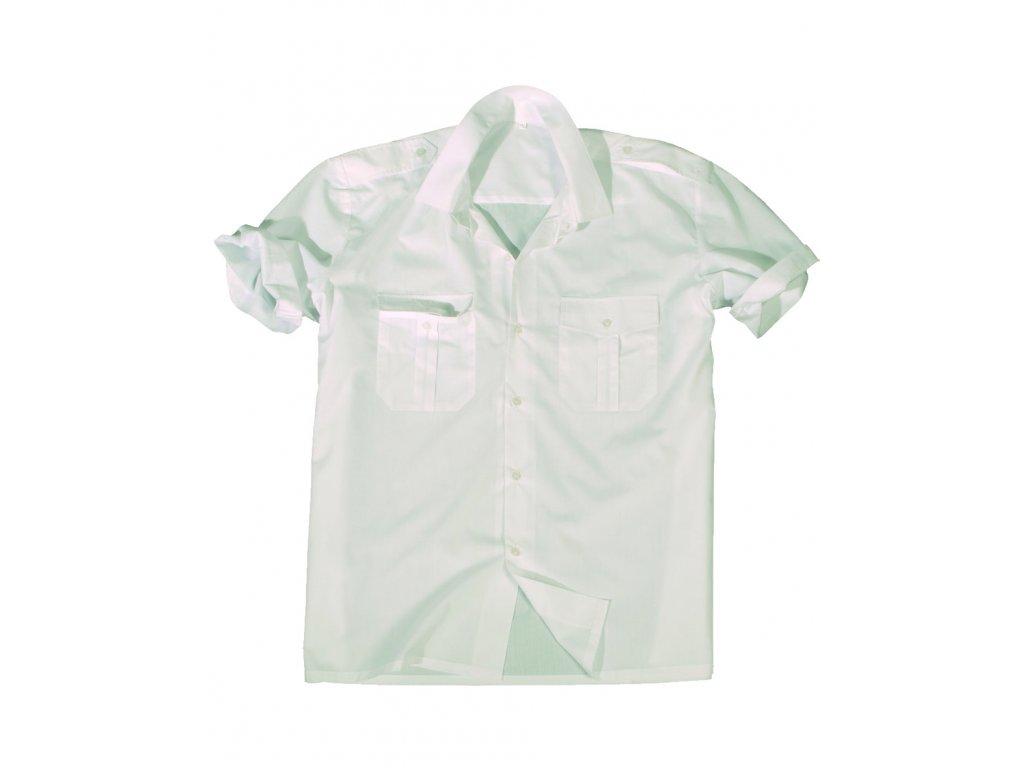 Košile SERVIS krátký rukáv na knoflíky BÍLÁ
