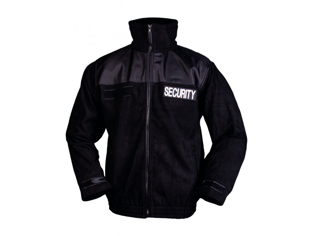 Bunda SECURITY fleece ČERNÁ