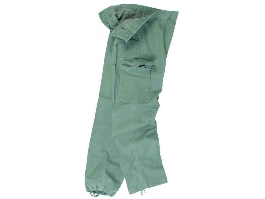 Kalhoty BW typ moleskin předeprané ZELENÉ