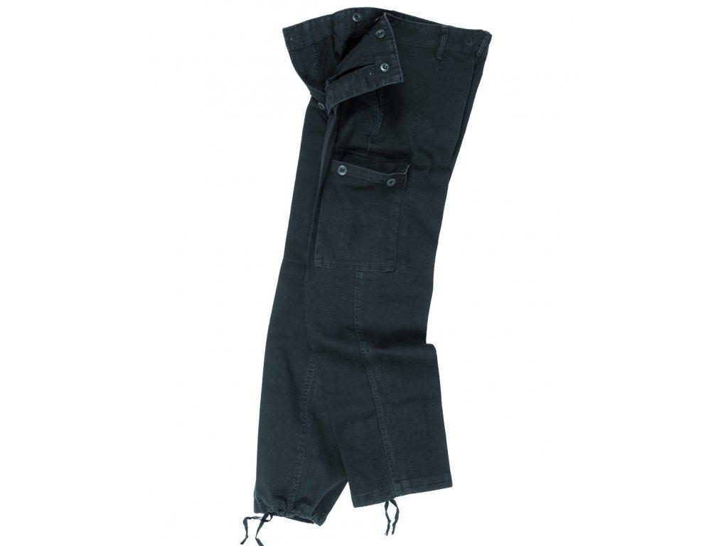 Kalhoty BW typ moleskin předeprané ČERNÉ